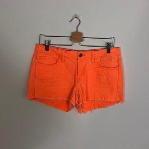 Orange Neon Jean Shorts